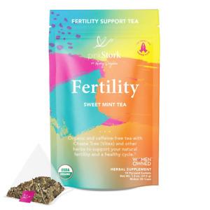 Pink Stork Fertility Tea: 30 Cups, Sweet Mint, USDA Organic, Fertility