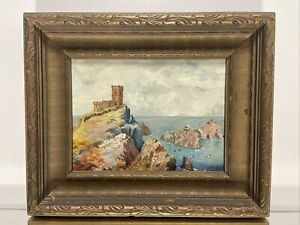 VTG. Oil Painting Of Scottish Castle by English/Canadian Artist Gordon.T Young