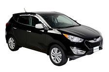 Chrome Trim Window Visors - Fits Hyundai Santa Fe 2007-2012 (Tape on)