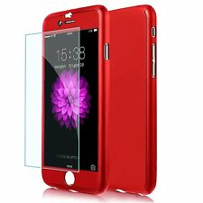 360° Full Protective Luxury Slim Case+Tempered Glass Cover For iPhone 6S 7 Plus