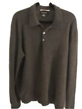 Glen Royal Men's XL 100% Cashmere Charcoal Gray Sweater