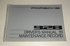 Owner´s Manual / Driver´s Manual / Handbuch Porsche 928 240 PS Stand 07/1980