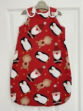 NEW NEXT 6-18 Months Red Christmas Xmas Baby Sleep Bag Sleep Suit Santa Penguin
