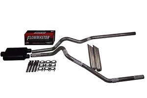 "Chevy Silverado GMC Sierra 07-14 2.5"" Dual exhaust Flowmaster super 44 weld tips"