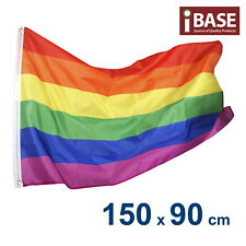 Rainbow Lesbian Gay Pride Banner Flag Outdoor Garden Polyester 5x3ft 150x90cm