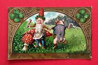 Jugendstil AK um 1905 Zwerg mit Schwein in Menschengestalt  ( 53044