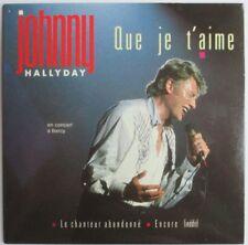 "JOHNNY HALLYDAY - MAXI CD ORIGINAL PICTURE ""QUE JE T'AIME"""