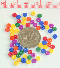 Novelty Buttons Tiny Assorted Colours Doll Buttons Approx 3mm #187