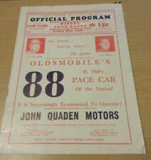 Wisconsin State Fair Park Midget Auto Race Program Friday 1949 Series 6