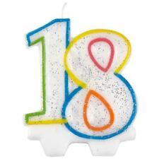 Milestone 18 18st Candela Di Compleanno Decorazione Per Torta Topper