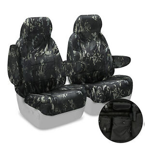 BLACK Multicam Tactical Camo Seat Covers Custom Made for 2005-2007 Hummer H2 SUT