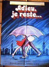 Affiche ADIEU, JE RESTE... 80x60 cm