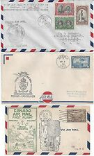 Canada 1930 1940s Collection Of 15 Covers Including First Flights Fdcs & Commerc