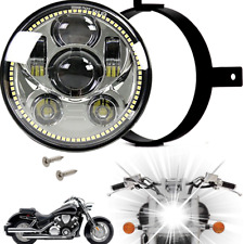 Eagle Lights Honda VTX Chrome Projection LED Headlight Plug & Play w/ Halo Ring