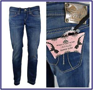 fornarina jeans da donna pantaloni avita bassa elasticizzati slim skinny fit 46