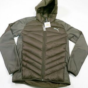 $160 PUMA Men's Hybrid 600 Down Jacket, Size Small Forest Night Style 851631 NWT