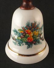 Avon Collectibles Bell 1985 Porcelain Thanksgiving Christmas Euc