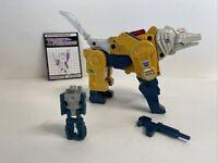 1987 Takara Hasbro Transformers G1 Headmasters Weirdwolf Decepticon Vintage Rare
