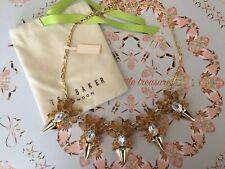Ted Baker Cristal Collar de oro ámbar y diseño único BNWT