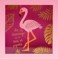 Flamingo Square Glitter Money Box