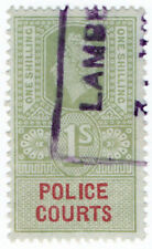 (I.B) Elizabeth II Revenue : Police Courts 1/-