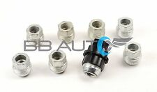 8 NEW LUG NUTS & COVERS CAPS BLACK CHEVROLET GMC C1500 C2500 FULL SIZE TRUCK