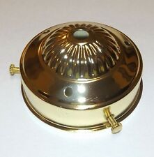 """3 1/4"""" FITTER STEEL BRASS PLATED FIXTURE SHADE HOLDER WITH 3 SET SCREWS NEW H03G"""