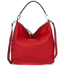 Gianni Chiarini Italian Made Natural Red Pebbled Leather Large Hobo Shoulder Bag