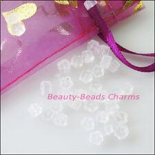300Pcs Transparent Hypo Flower Rubber Earring Back Stopper Finding 3x4.5mm