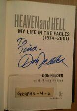 Don Felder Signed Book Eagles Autograph COA