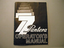 1977 Vintage Arctic Cat Pantera Snowmobile Owner's / Operator's Manual