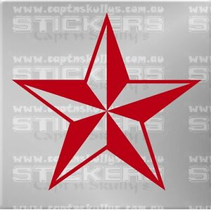 NAUTICAL STAR DECAL 150mm x 150mm 15 COLOURS TO CHOOSE FROM MPN 1040