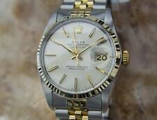Rolex 16013 Swiss Made Men 18k Gold and Stainless St All Original 1980 Watch AA3