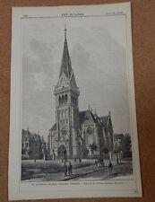 Antique architects print Saviours Church Dresden The Builder 1882