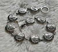 STERLING SILVER 925 Bracelet Eye of Horus Ancient Egyptian Symbol of Life Amulet