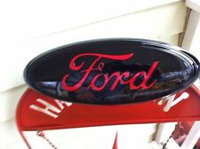 "13"" FORD-""BLACK & RED"" Grille Emblem,CUSTOM PAINT,2011-16 F-250-350,super duty"