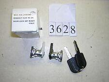 3628 paire serrures de portes avec 2 clés pour renault clio  neuve