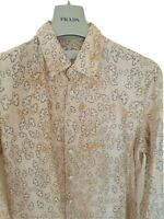 """Mens chic PRADA long sleeve shirt size large 42"""". Immaculate.... RRP £375"""