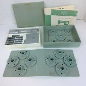 Vintage Sears Kenmore Sewing Machine Kit Box Buttonholer Cams Attachments 1750