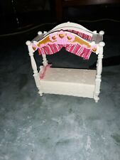 Fisher-Price Loving Family Dollhouse 2009 Girl's Pink Canopy Bed for Bedroom