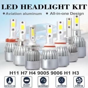 H1 H7 H4 H11 9003 9005 9006 LED Headlight Bulb Hi/Lo Beam Fog Light 100W 20000LM