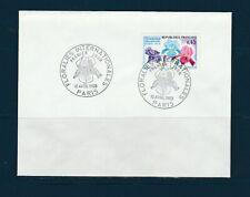 FRd enveloppe Fleurs  Floralies  internationale  1er jour 75 Paris   1969