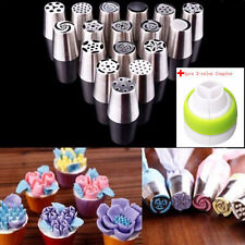 17 Russian Tulip DIY Stainless Flower Icing Piping Nozzles Tips Cake Baking Tool