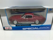 FORD MUSTANG GT 1967-Rouge - 1:24 Maisto NOUVEAU!