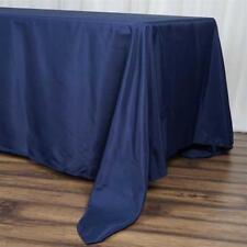 "5 Pk Navy Blue 72x120""  Polyester Rectangle Seamless Tablecloth Wedding Party"
