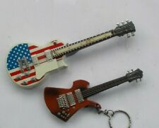 LOT 2 Vintage Electric Guitar Cigarette Lighters USA Flag Musical Instruments NR