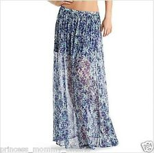 GUESS by Marciano Maxi Skirt Long Chiffon Cheer Floral  Boho Size M