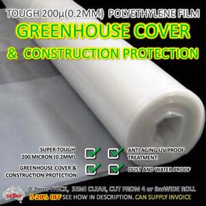 GREENHOUSE COVER FILM Semi Clear Tough Plastic Polyethylene PE 200 micron UV Age