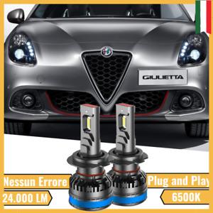 Coppia Lampade Led Alfa Romeo Giulietta H7 6500K 24.000LM LUCE BIANCO GHIACCIO