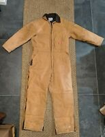 Dickies Premium Duck Brown Insulated Work Coveralls size XL